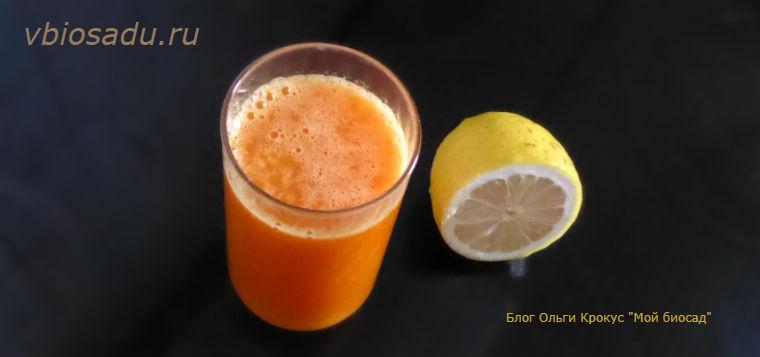 Сок из тыквы с апельсином
