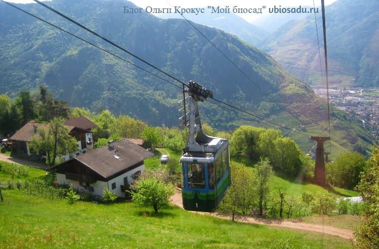 Канатная дорога в Больцано Фото
