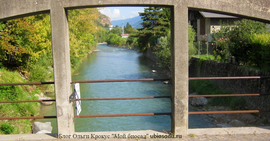 Речка в окрестностях Больцано, Италия, фото.